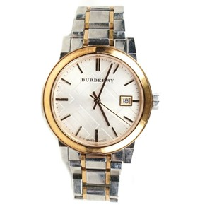 Burberry City Watch Gold Bezzle Silver Steel White Circle Face