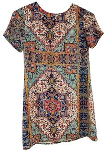 Olivaceous short dress Ivory Indian Print on Tradesy
