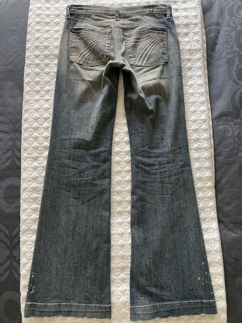 7 For All Mankind Grey Distressed Dojo Boot Cut Jeans Size 26 (2, XS) 7 For All Mankind Grey Distressed Dojo Boot Cut Jeans Size 26 (2, XS) Image 2