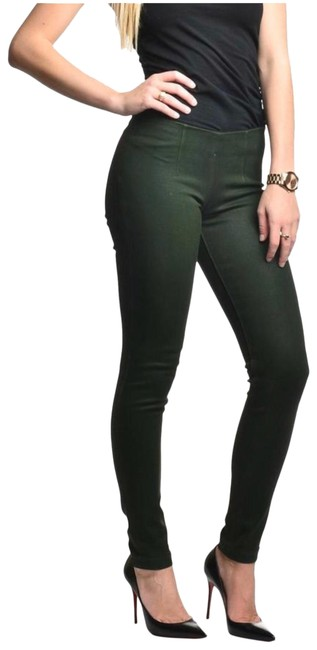 Item - Green Coated Skins Skinny Jeans Size 27 (4, S)
