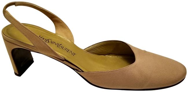Item - Tan Yves Leather Chunky Heeled Mules/Slides Size US 10 Regular (M, B)