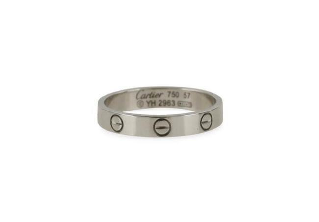 Item - Silver/White Gold The Love Women's Wedding Band