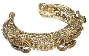 Chanel Chanel Gold Filigree Cuff 11A