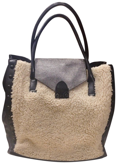 Item - Shearling Work Black Leather Tote