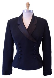 Kasper Vintage Form Fitting & Sexy Black Jacket