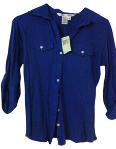 Max Studio Button Down Shirt Blue