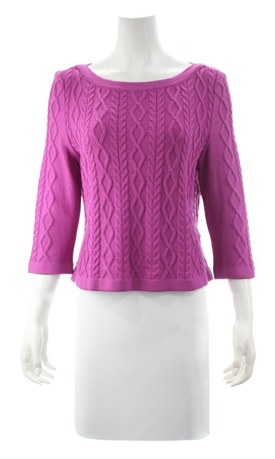 Item - Sport Essentials By Marie Gray Knit Size M Magenta Sweater