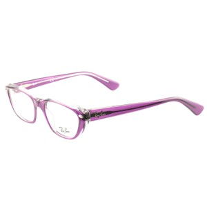 Ray-Ban RB524252545118140 Clear Purple Acetate 51 18 140 Authentic