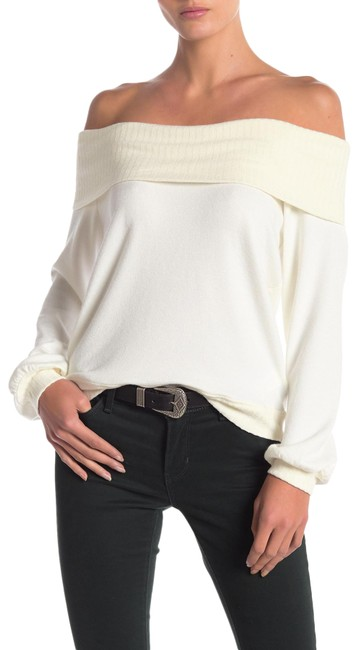Item - Off-the-shoulder Knit White Sweater