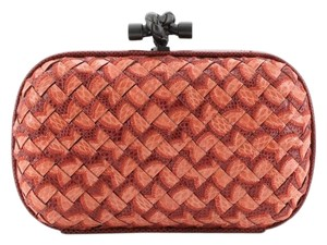Bottega Veneta Snakeskin Red Clutch