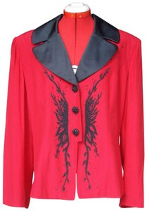 Gantos Beaded Vintage Embellished New With Tags Red w/ Black Blazer