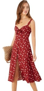 Red White Maxi Dress by Reformation