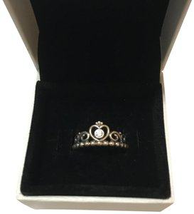 PANDORA Pandora princess crown ring size 52/6