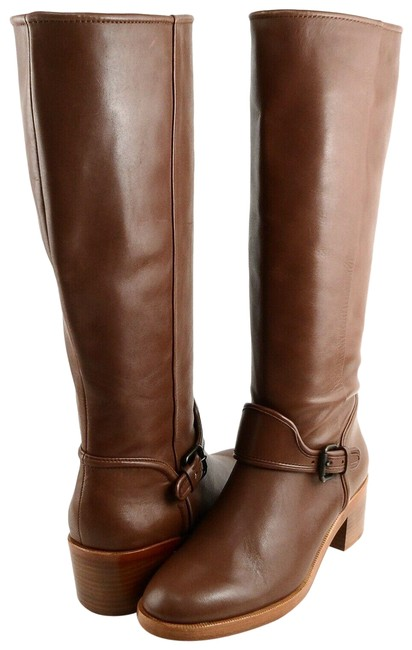 Item - Brown Cecelia Leather Riding Boots/Booties Size US 7.5 Regular (M, B)