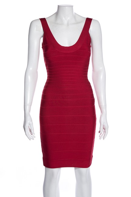 Item - Red Bandage Short Night Out Dress Size 4 (S)