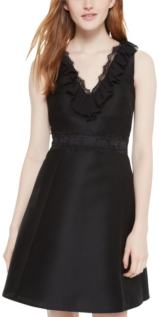 Item - Black Lace Fit And Short Cocktail Dress Size 6 (S)