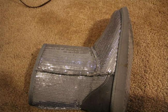Item - Silver/Grey Boots Sparkle Size US 7.5