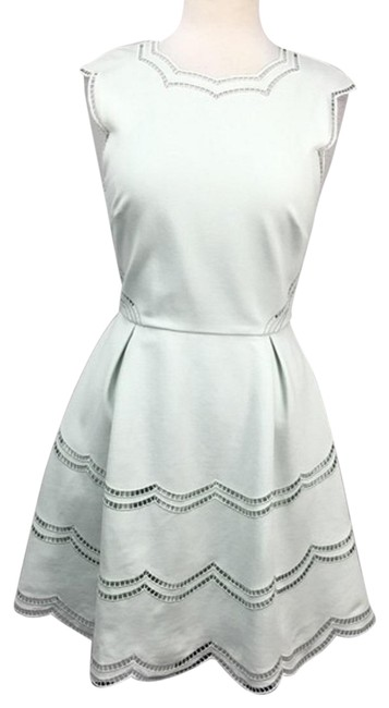 Item - Mint Green Cammey Scallop Embroirdered Fit & Flare E Short Work/Office Dress Size 8 (M)