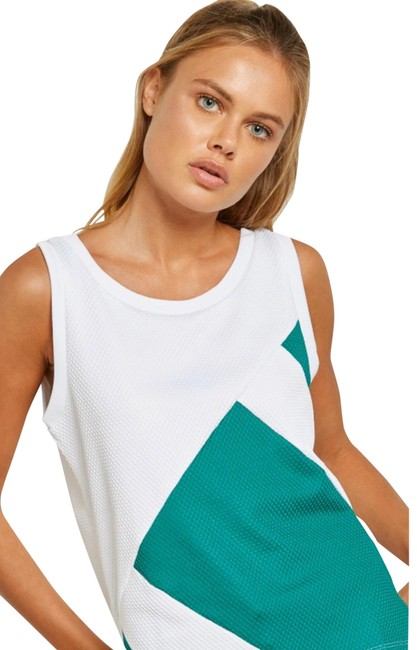 Item - White/Green Eqt Activewear Top Size 4 (S)