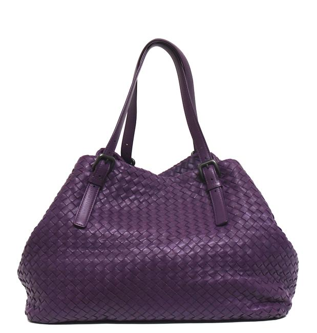Item - Nappa Intrecciato Large Cesta Violet Purple Leather Tote