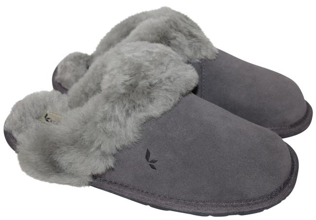 Item - Gray Koolaburra Shearling Suede Slippers Mules/Slides Size US 6 Regular (M, B)