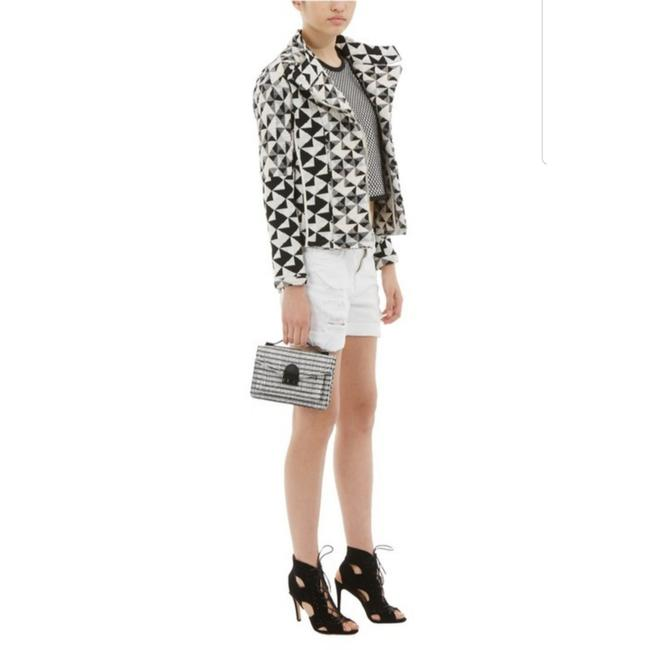 Item - Black and White Otavia Textured Quilted Woven Jacket Size 6 (S)