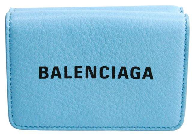 Item - Blue Everyday Compact 551921 Unisex Leather (Tri-fold) Wallet