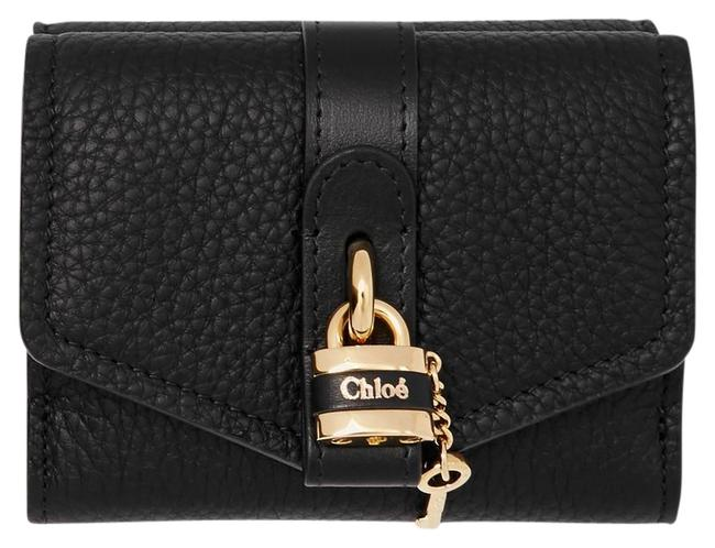 Item - Black Aby Small Lock Leather Wallet