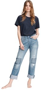 Rag & Bone Boyfriend Cut Jeans-Medium Wash