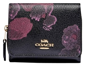 Coach COACH SMALL TRIFOLD WALLET WITH HALFTONE FLORAL PRINT F87828