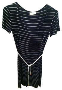 Calvin Klein short dress Navy Blue & White Stripes on Tradesy