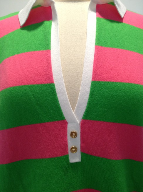 Lilly Pulitzer Striped T Shirt Pink and Green