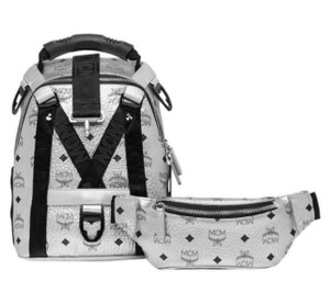 MCM 2 In 1 Jemison Coated Canvas Backpack