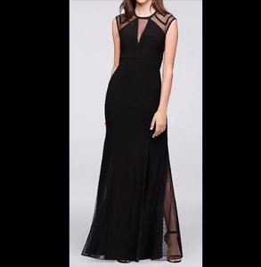 David's Bridal Black Open Formal Bridesmaid/Mob Dress Size 2 (XS)