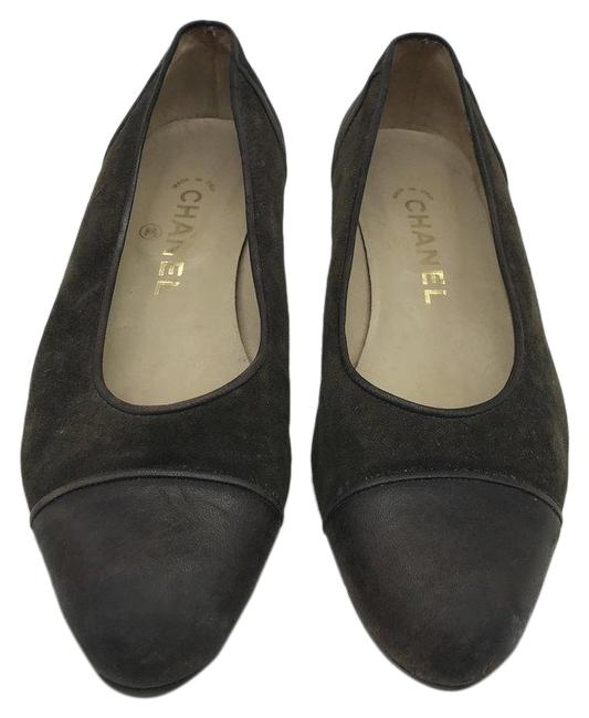 Item - Green & Brown Suede Leather Pumps Size US 8 Regular (M, B)
