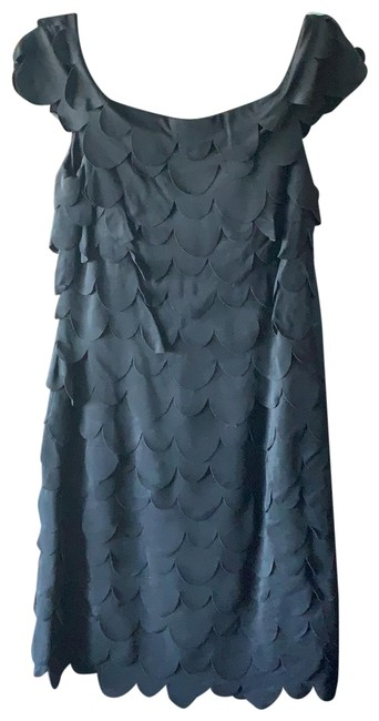 Item - Rouched Black Stretchy Mid-length Night Out Dress Size 8 (M)