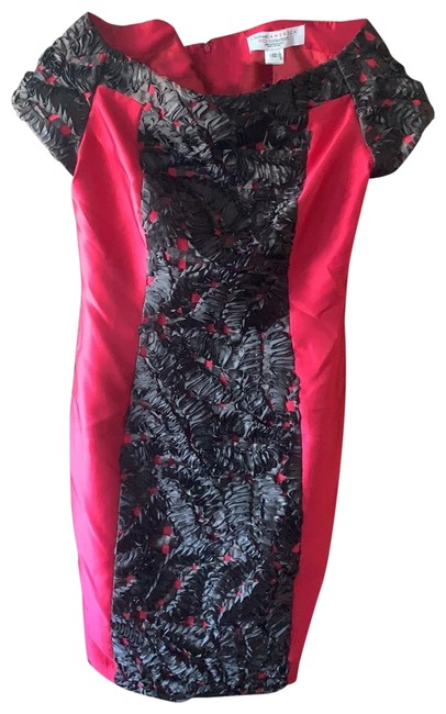 Item - And Black Rouching Mid-length Night Out Dress Size 12 (L)