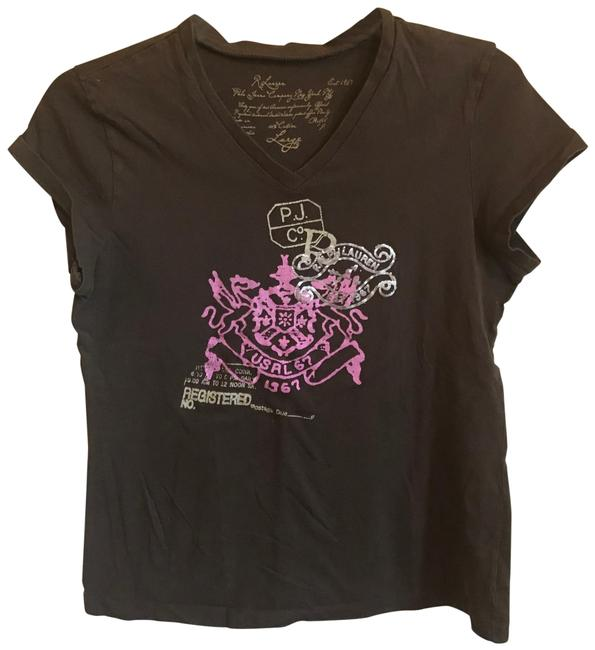 Item - Brown Polo Jean Company Tee Shirt Size 12 (L)
