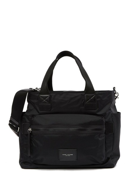 Item - W Biker W/Changing Pad Tote Black Nylon Diaper Bag