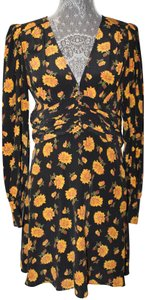 VERONICA BEARD short dress Black/Yellow on Tradesy