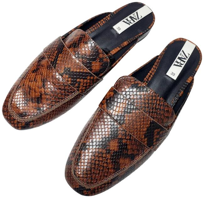 Item - Brown New Animal Print Embossed Ref 7549/001 Mules/Slides Size US 10 Regular (M, B)