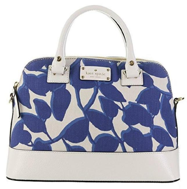 Item - Wellesley Leaves Fabric Small Rachelle Hycnleaves Leather Satchel
