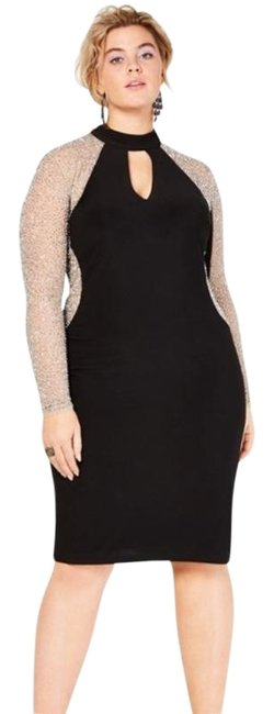 Item - Black Cream Mid-length Formal Dress Size 16 (XL, Plus 0x)