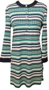 Tory Burch short dress purple, white and green on Tradesy