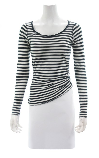 Item - Black Vince & White Striped Long Sleeved Small Tee Shirt Size 4 (S)