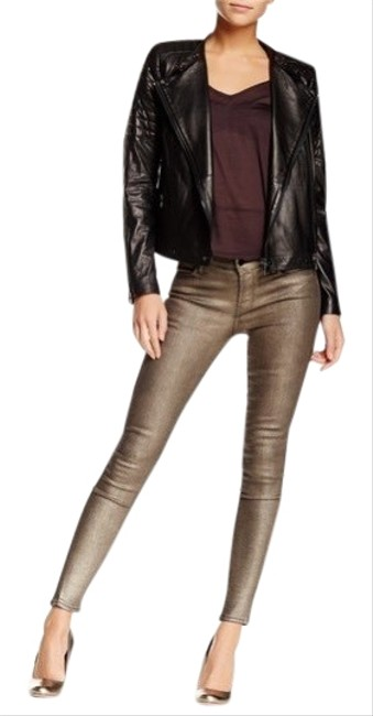 Item - Gold Dust Coated Mid Rise Skinny Jeans Size 4 (S, 27)