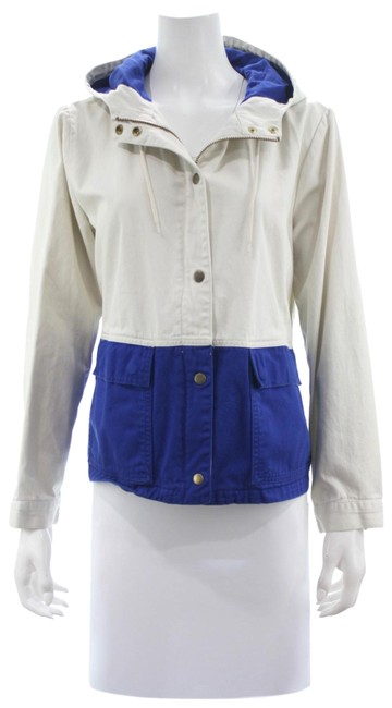 Item - Beige & Blue Colorblock Sail Small Jacket Size 4 (S)