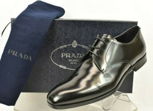 Prada Black 2ec068 Polished Leather Lace Up Oxfords 9.5 Us 10.5 Shoes