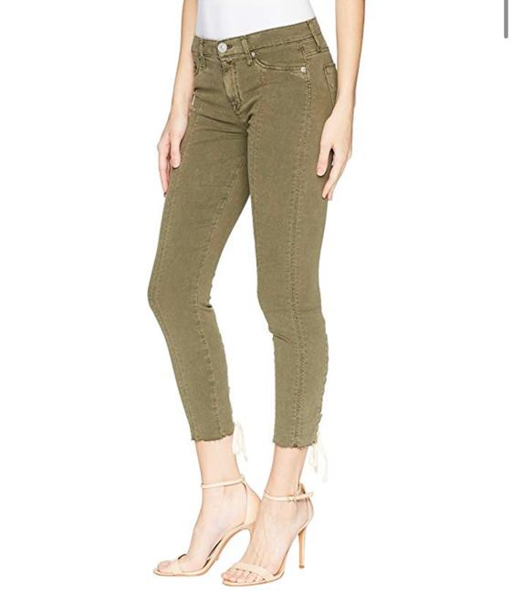 Hudson Olive Nico Mid-rise Crop Lace-up Skinny Jeans Size 2 (XS, 26) Hudson Olive Nico Mid-rise Crop Lace-up Skinny Jeans Size 2 (XS, 26) Image 1