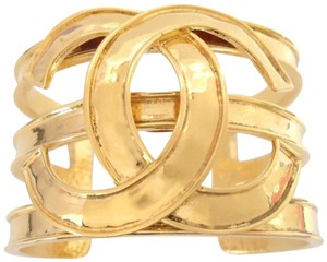 chanel chanel Cc Logo Color Cuff Bangle Bracelet